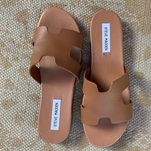 STEVE MADDEN| brown leather sandals | 10